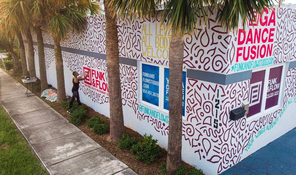 Funk & Flow Indoor/Outdoor Mural