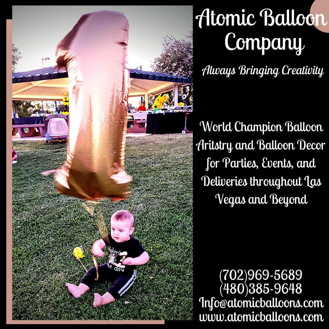 Hakim's First BEEday Celebration photo Atomic First Birthday Balloon.jpg