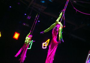 "Amazon Post Holiday Party, ""Flashback"" photo party-acrobats.jpg"