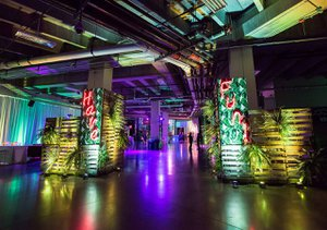 "Amazon Post Holiday Party, ""Flashback"" photo company-party-entrance.jpg"