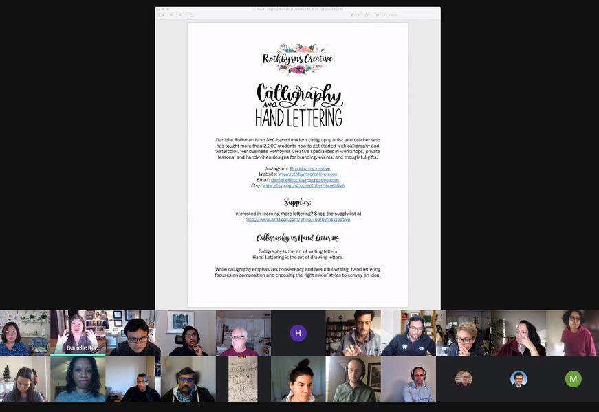 Google Virtual Hand Lettering Workshops