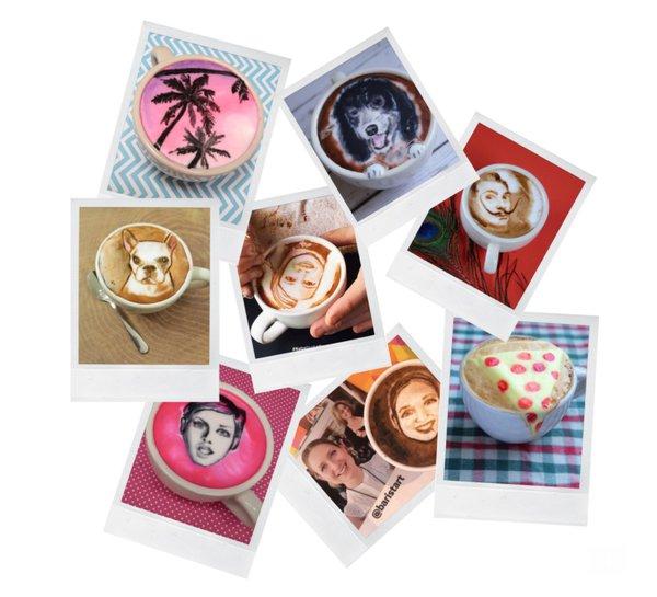 Virtual Latte Art Portraits service photo