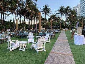 Seaside Soiree photo Roomview - white adirondack chairs, Jenga, hayes highboy, string lighting (2).jpg