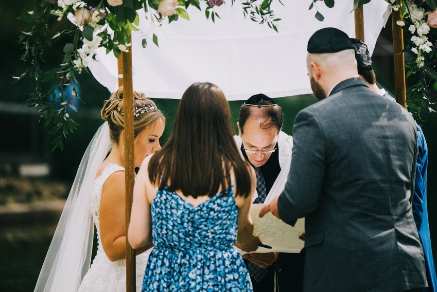 Elizabeth and Edward's wedding ceremony