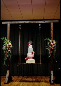 Weddings Various  photo suspended cake flowers.jpg