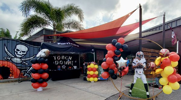 Party City Super Bowl LV Tailgate Tent cover photo