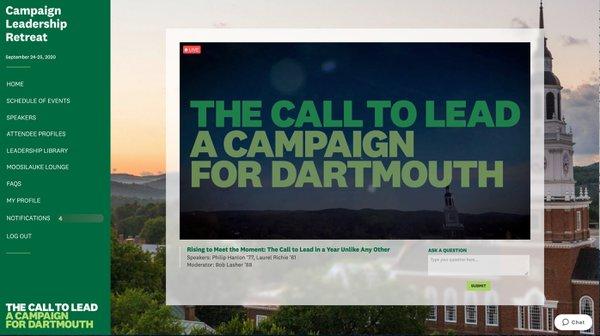 Dartmouth Campaign Leadership Retreat