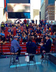THE ULTIMATE PUBLIC ACTIVATIONS  photo DESIGN TALK NYC AT TIMES SQUARE 2017 MAY 3.jpg