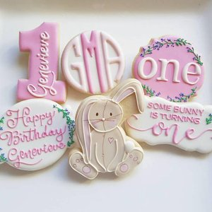 Custom Cookies for your special event! photo some bunny somebunny is one rabbit jill.jpg