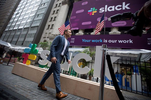 SLACK IPO cover photo