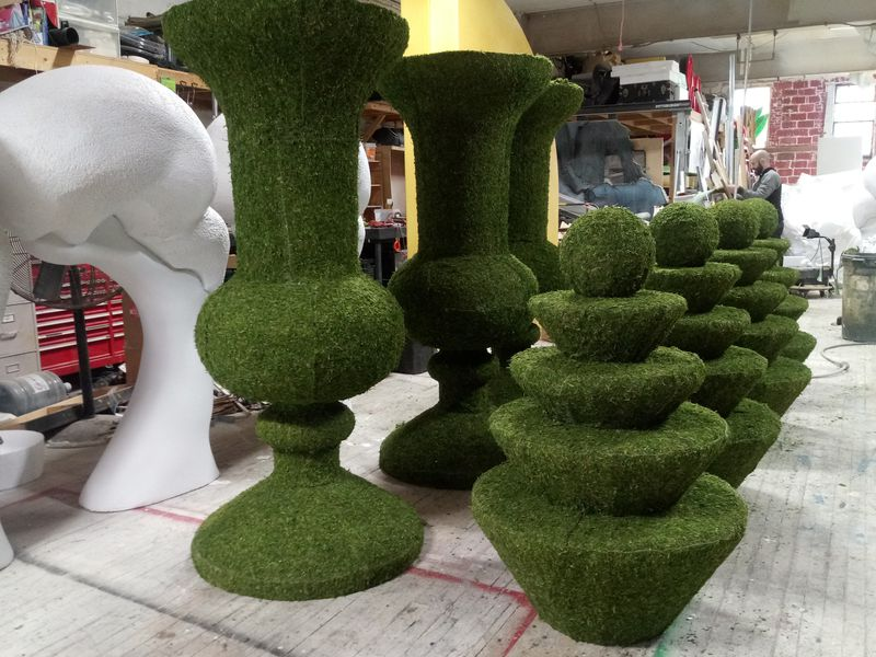 Moss Urns for Wedding Event