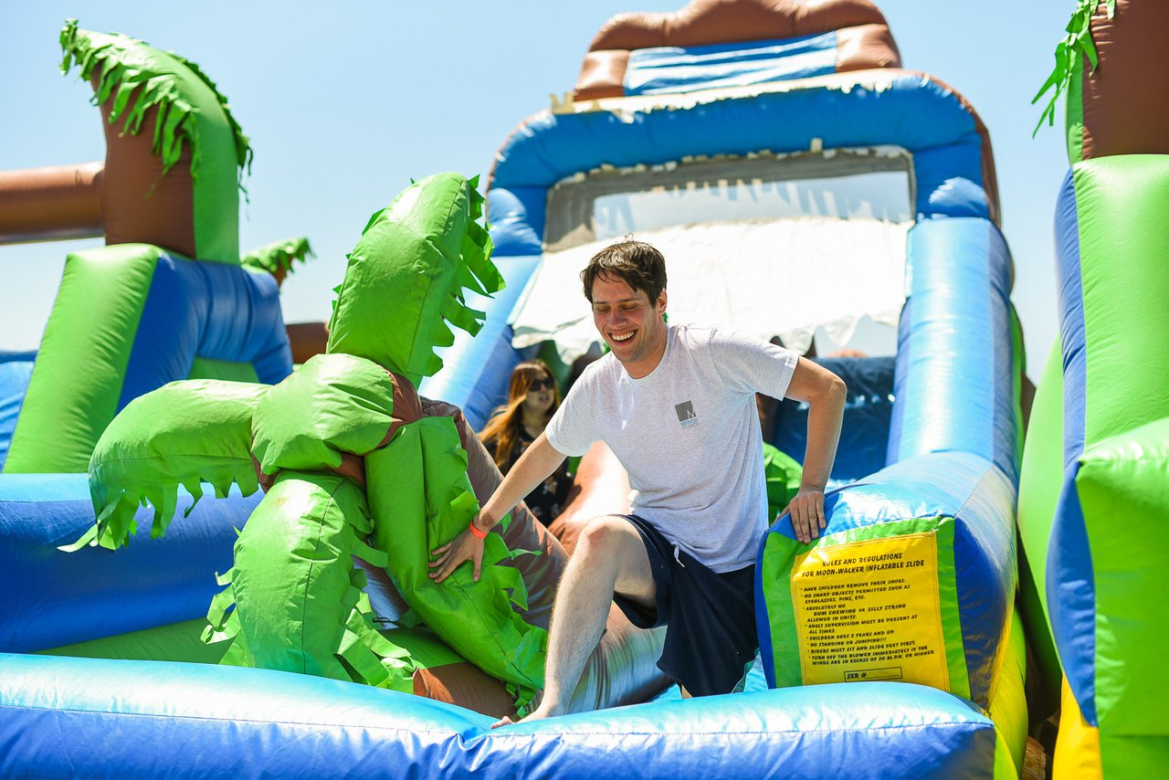 Cartoon Network's Beach Picnic photo Beach Theme Inflatable for Adults at Cartoon Network Company Outing.jpg