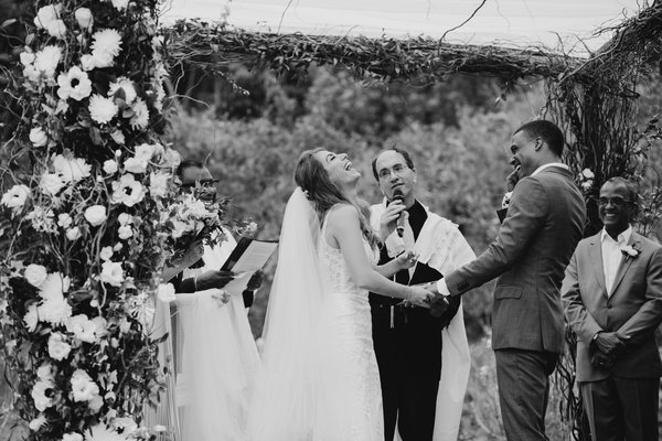 Danielle and Mikey's wedding ceremony cover photo