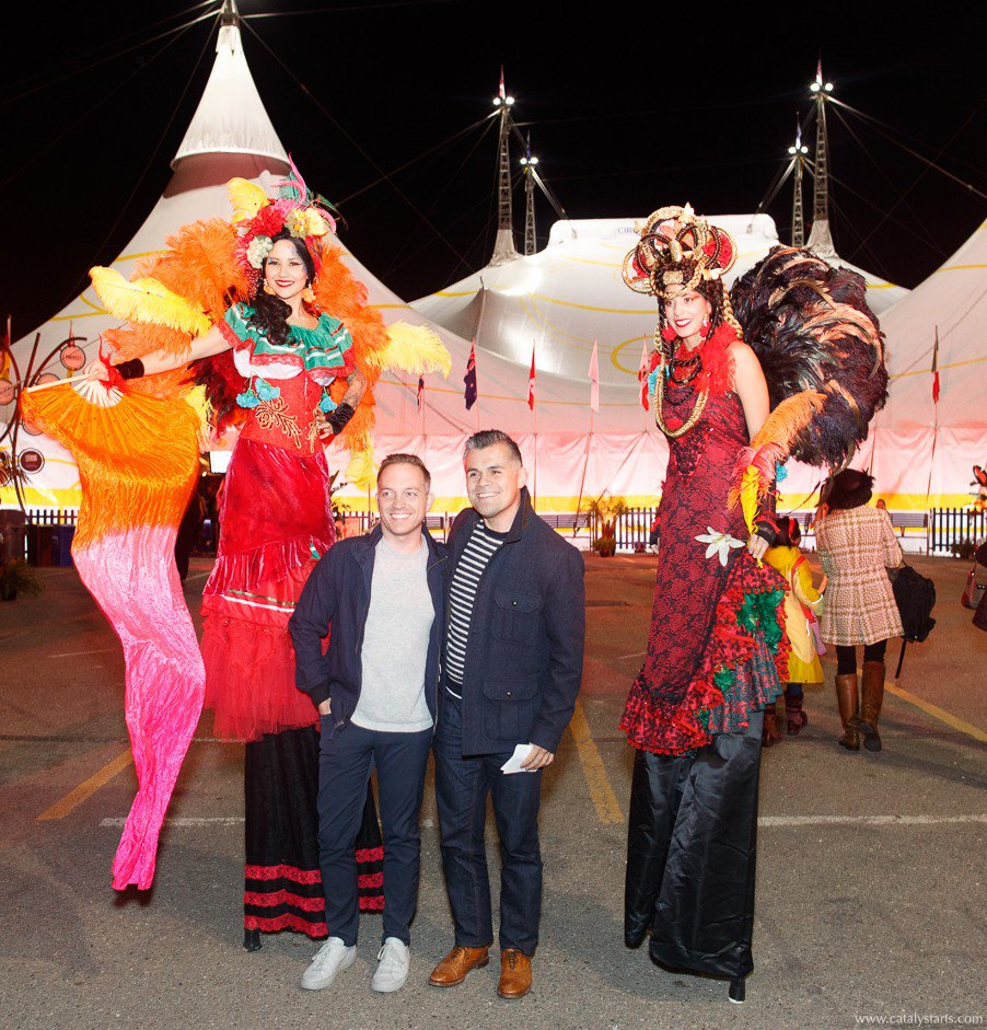 Cirque du Soleil Luzia Opening Night photo 2Stiltswithguests.jpg