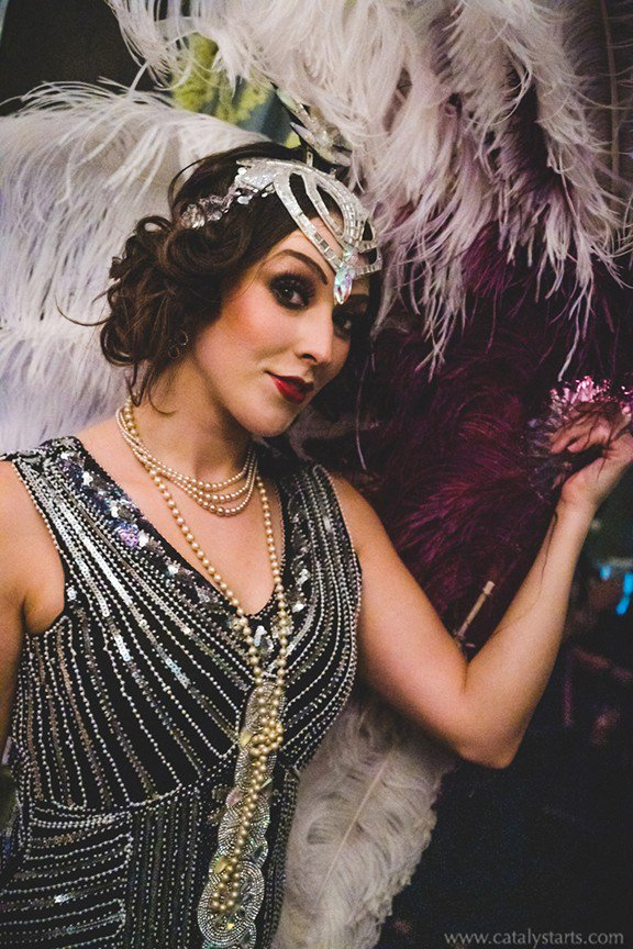 Gatsby themed Corporate party  photo CA-Dorian-Party_kittyShowgirl_w.jpg