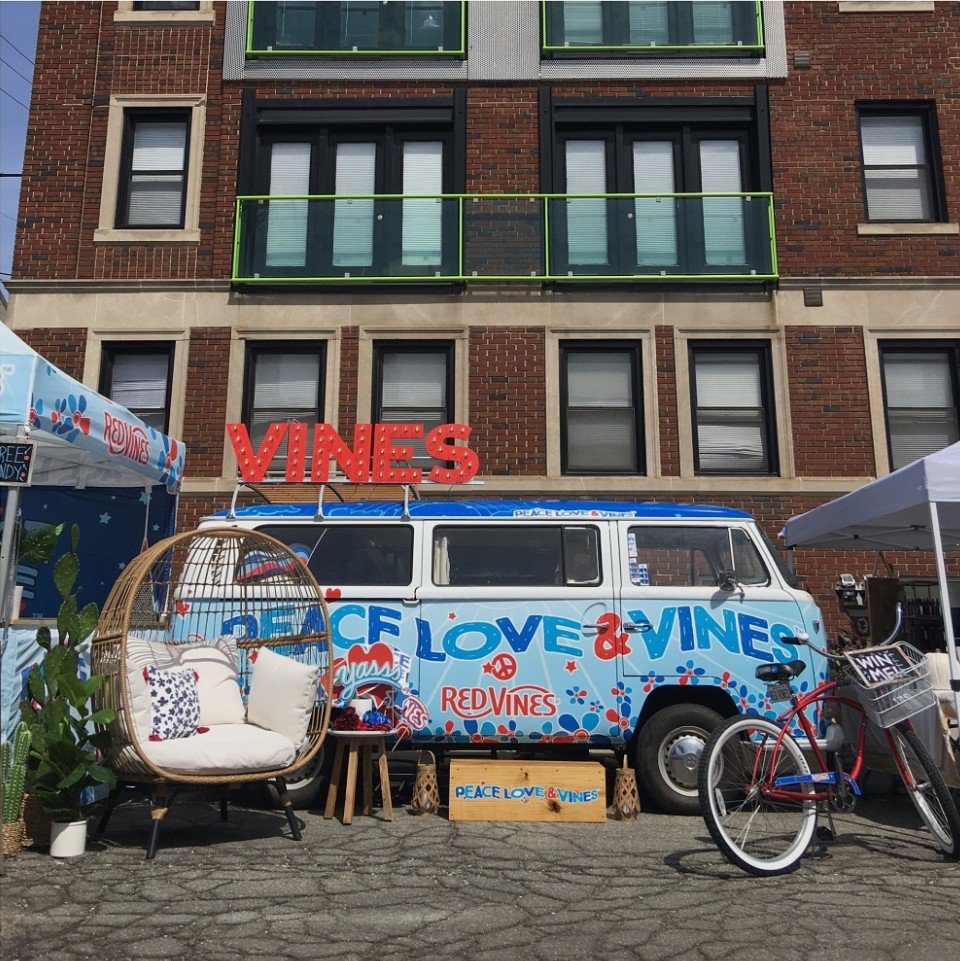 Peace, Love & Vines Tour photo Red Vines VW Branded Full Bus and Lounge.jpg