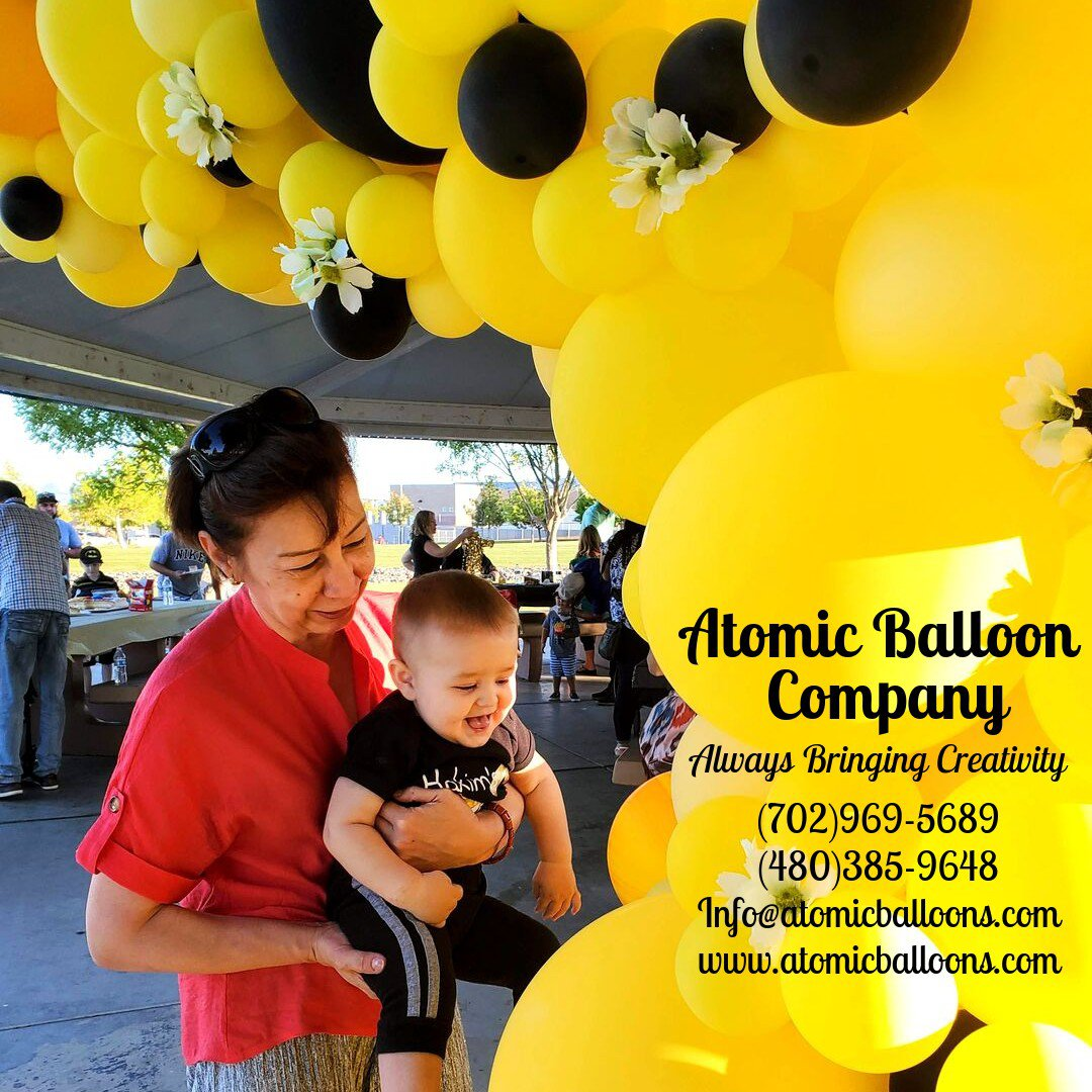 Hakim's First BEEday Celebration photo Atomic BEEday Birthday Balloon Decor 11.jpg