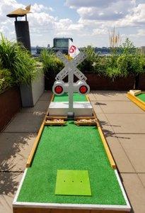 Mini Golf on NYC Rooftop photo Mini Golf Train Hole.jpg
