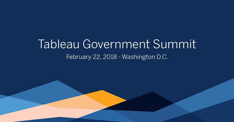 Tableau Government Summit cover photo