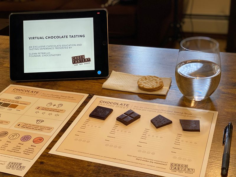 Corporate Virtual Chocolate Tastings service