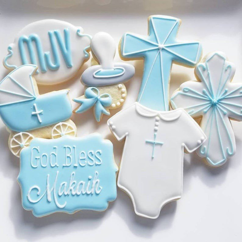 Custom Cookies for your special event! photo jill christening communion baptism cross.jpg