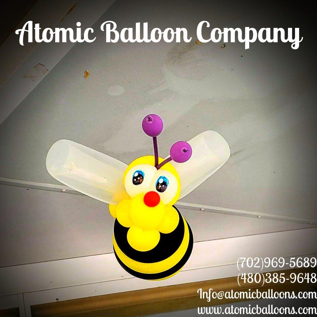 Hakim's First BEEday Celebration photo Atomic BEEday Birthday Balloon Decor 12.jpg