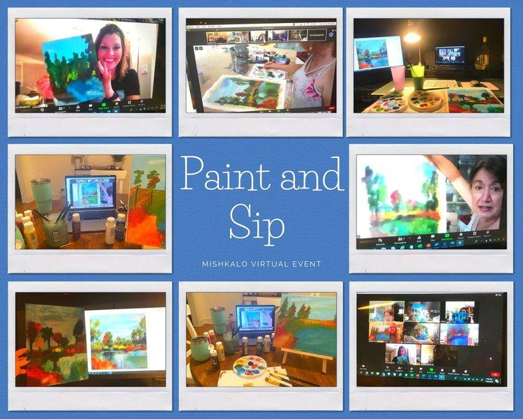 Paint & Sip Team Building