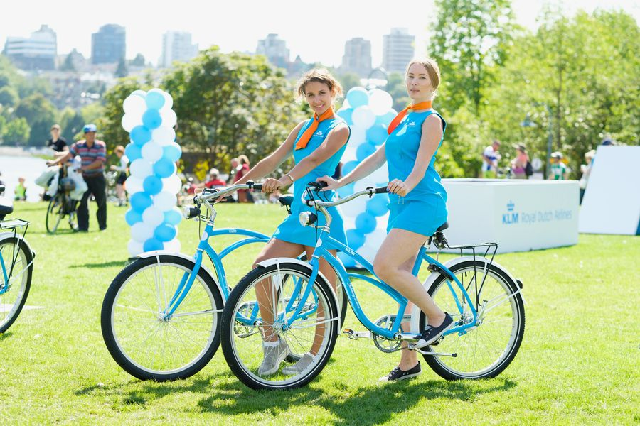KLM activation at Our City Ride