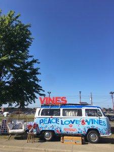 Peace, Love & Vines Tour photo Red Vines VW Branded Full Bus Shot2.jpg