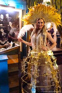 Gatsby themed Corporate party  photo CA-Dorian-Party_WineSkirt_Showgirl_w.jpg