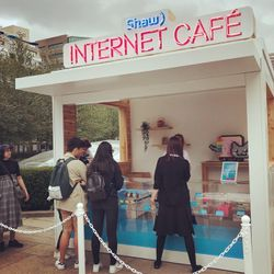 Shaw Internet Café Pop-Up