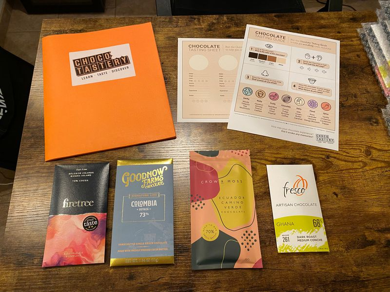 Curated Chocolate Bar Tasting Kits/Gifts service