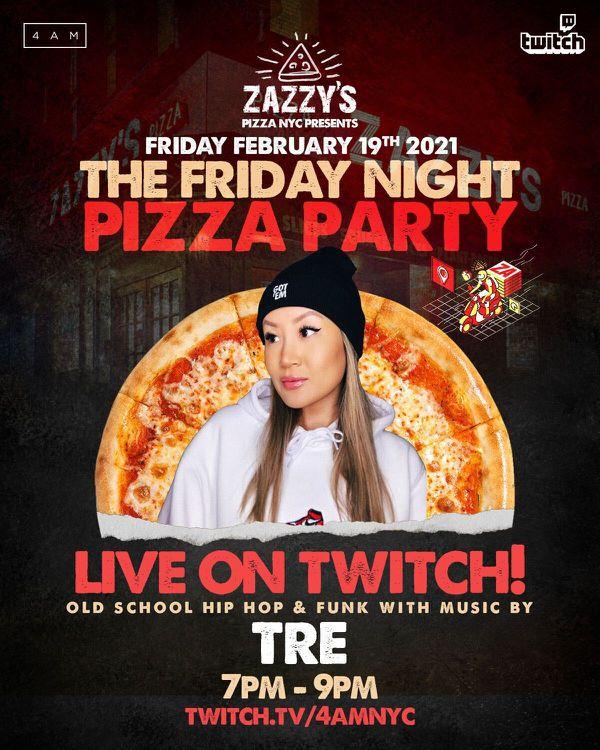4AM x Zazzy's Pizza Twitch Stream