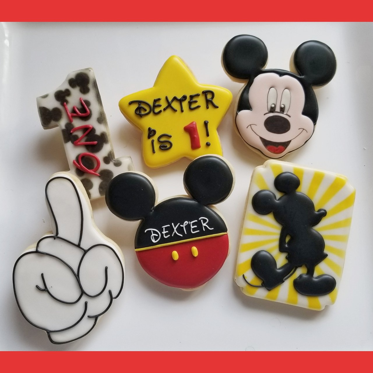 Custom Cookies for your special event! photo mickey mouse jill 1st birthday first.jpg