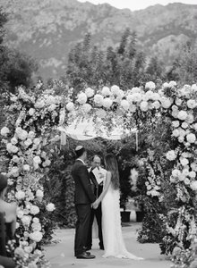 Rachel and Derek's wedding ceremony photo Rachel and Derek's wedding ceremony at La Residencia, in Deià on the Island of Mallorca, Spain – www.jpg