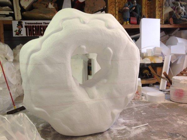Foam Sculptures photo Entenmann's National Donut Day Progress- 2.jpg