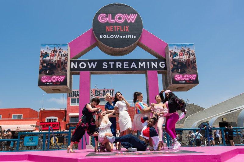 Netflix Glow at Muscle Beach