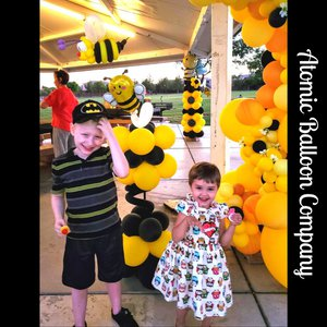 Hakim's First BEEday Celebration photo Atomic BEEday Birthday Balloon Decor 5.jpg