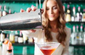 Hodde Bros Beverage Academy photo Bartender Pouring Cocktail.jpg