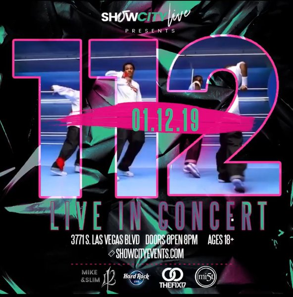 112 Live in Vegas  cover photo