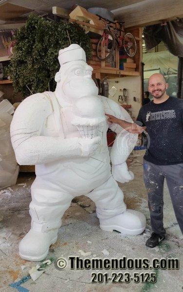 Foam Sculptures photo King Kone Progress 1.jpg