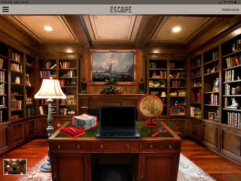 iEscape - Virtual Escape Rooms: Follow the red hotspots on the iEscape game board….jpg