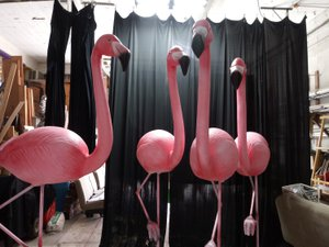 Oversized Flamingo Sculpts  photo flamingos.jpg