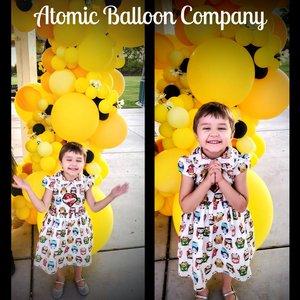 Hakim's First BEEday Celebration photo Atomic BEEday Birthday Balloon Decor 6.jpg