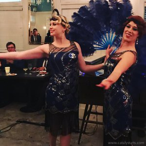 Gatsby themed Corporate party  photo PeacockFlapper_dancers_w.jpg