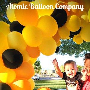 Hakim's First BEEday Celebration photo Atomic BEEday Birthday Balloon Decor 13.jpg