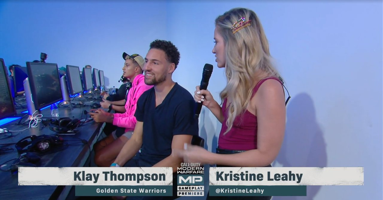 Call of Duty Modern Warfare Press Reveal photo Klay Thompson 1.jpg
