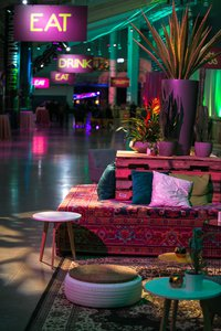 "Amazon Post Holiday Party, ""Flashback"" photo comfortable-seating-for-event-guests.jpg"