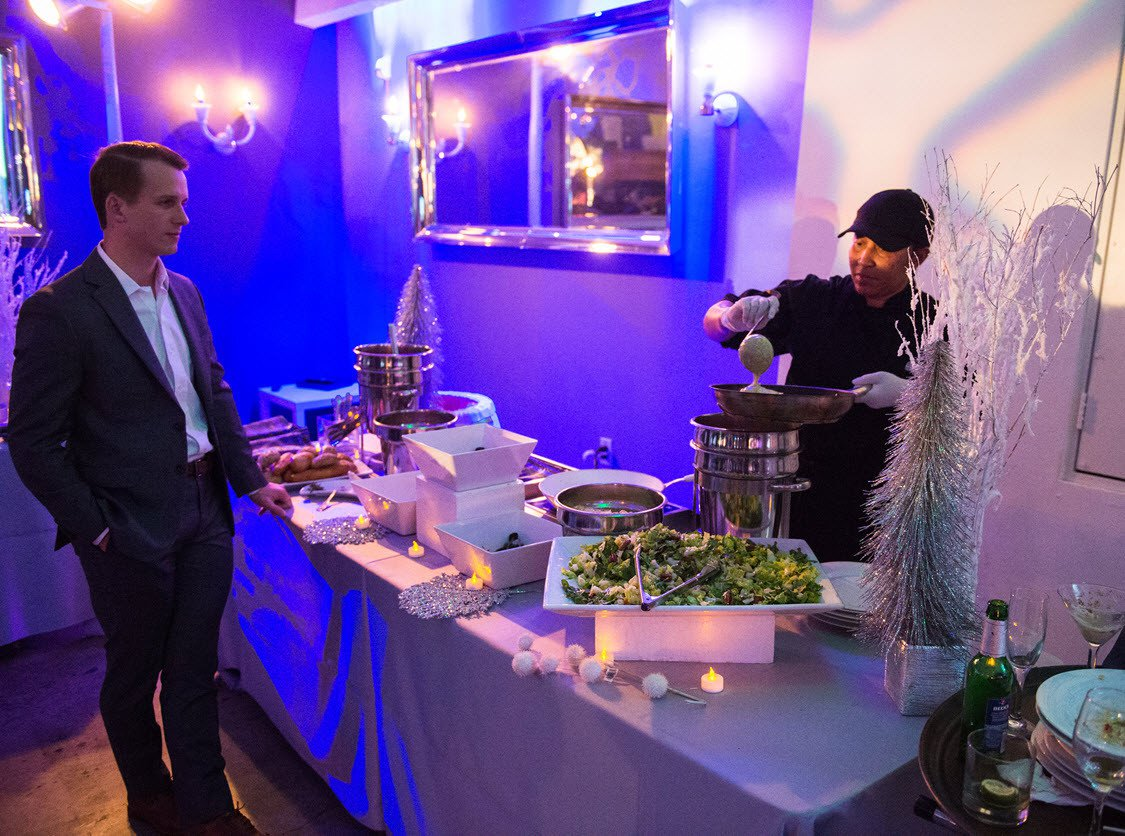 Los Angeles Law Firm's Holiday Party photo Action Station at Corporate Christmas Party in Los Angeles.jpg