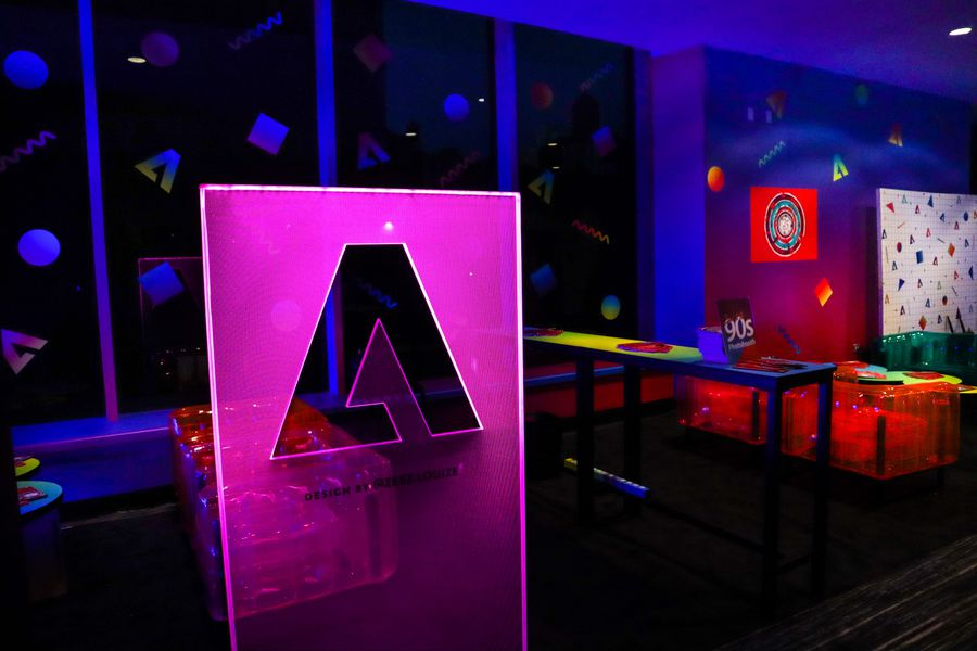Adobe Back to The 90's Lounge